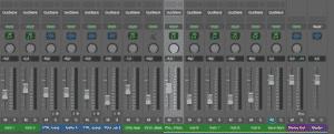Logic Pro X table de mixage