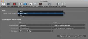 Logic Pro X format audio