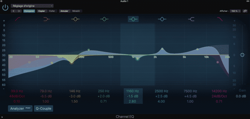 Comprendre Le channel EQ