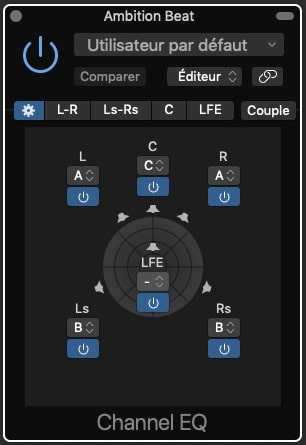 Channel EQ Surround Setting