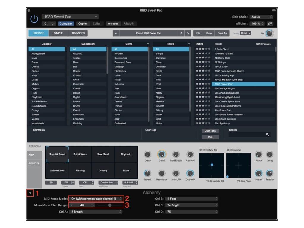 Logic Pro X réglage MPE