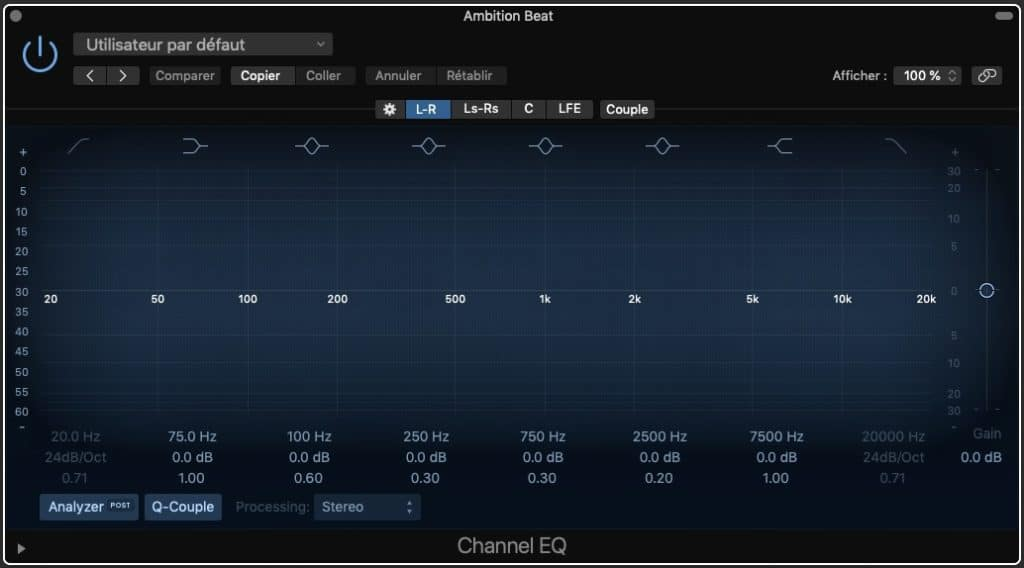 Surround Channel EQ
