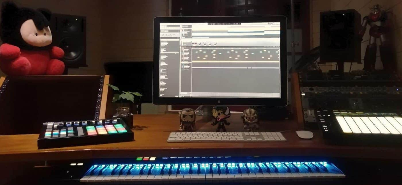 Le studio le soir